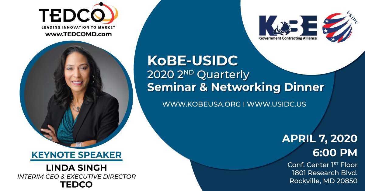 2020 KoBE/USIDC 2nd Quarterly Seminar & Networking Dinner